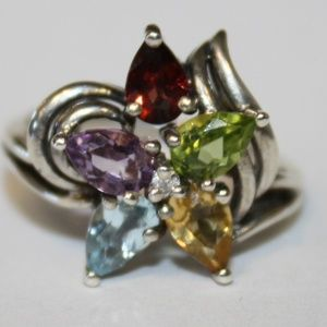 Jewelry - Stunning Sterling Silver natural Stone ring size 7